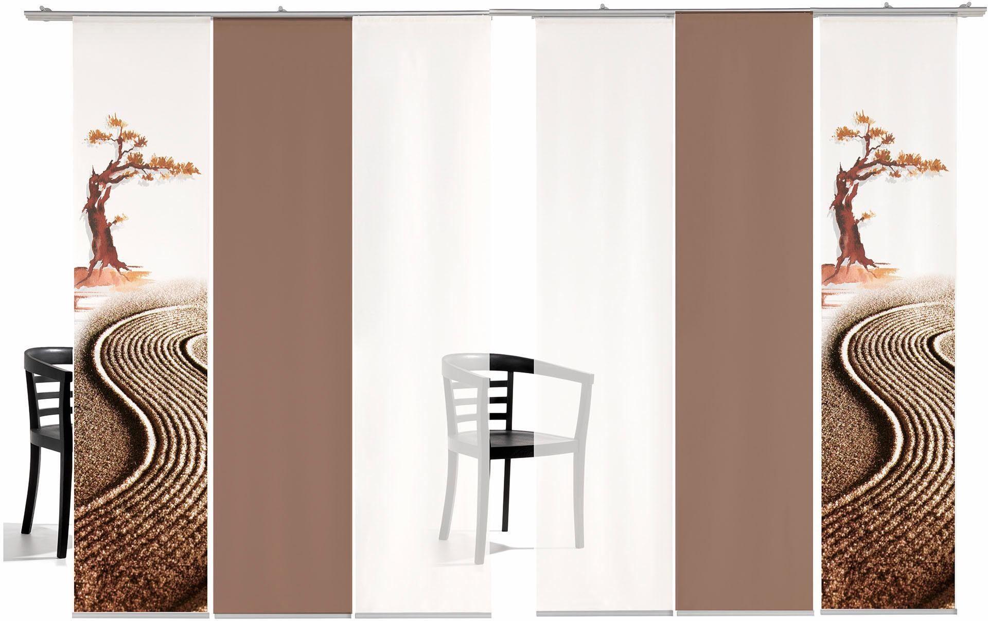 Paneel Gordijn 6 : Paneelgordijn emotion textiles bonsai gekleurd« met