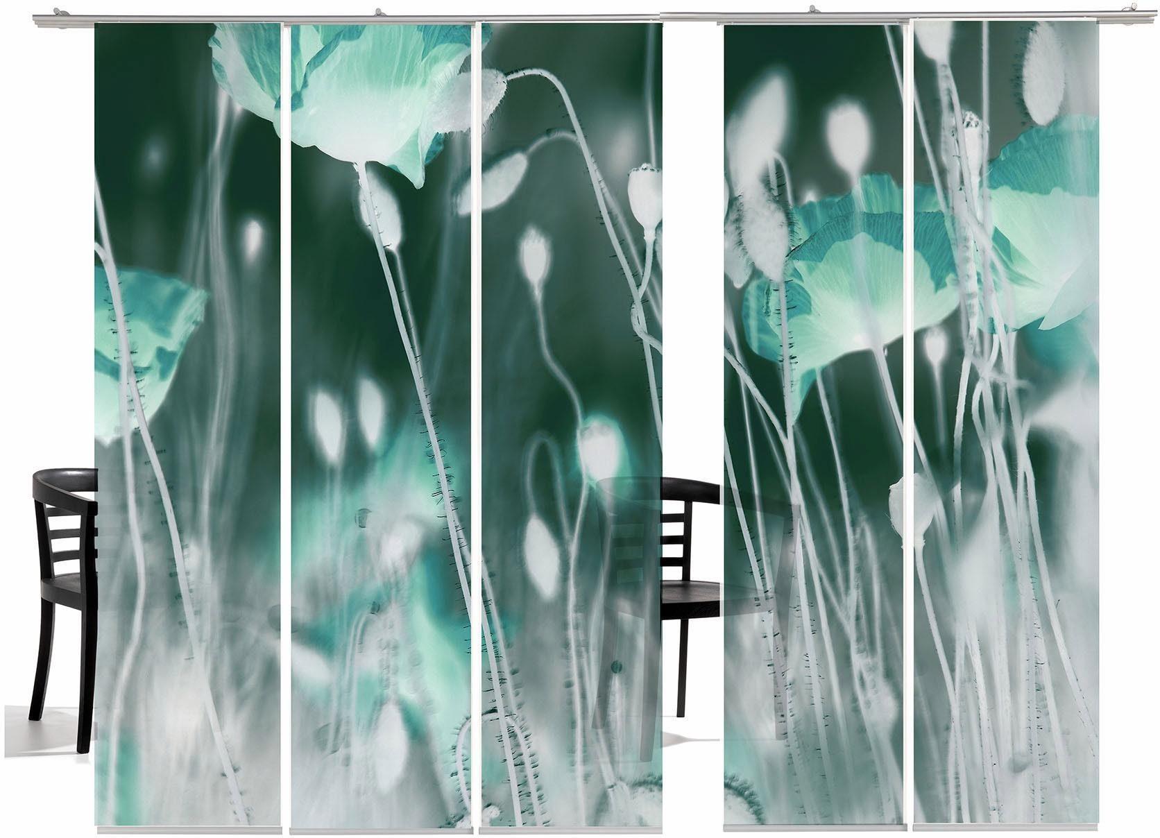 Paneelgordijn emotion textiles wilde klaproos ha« met