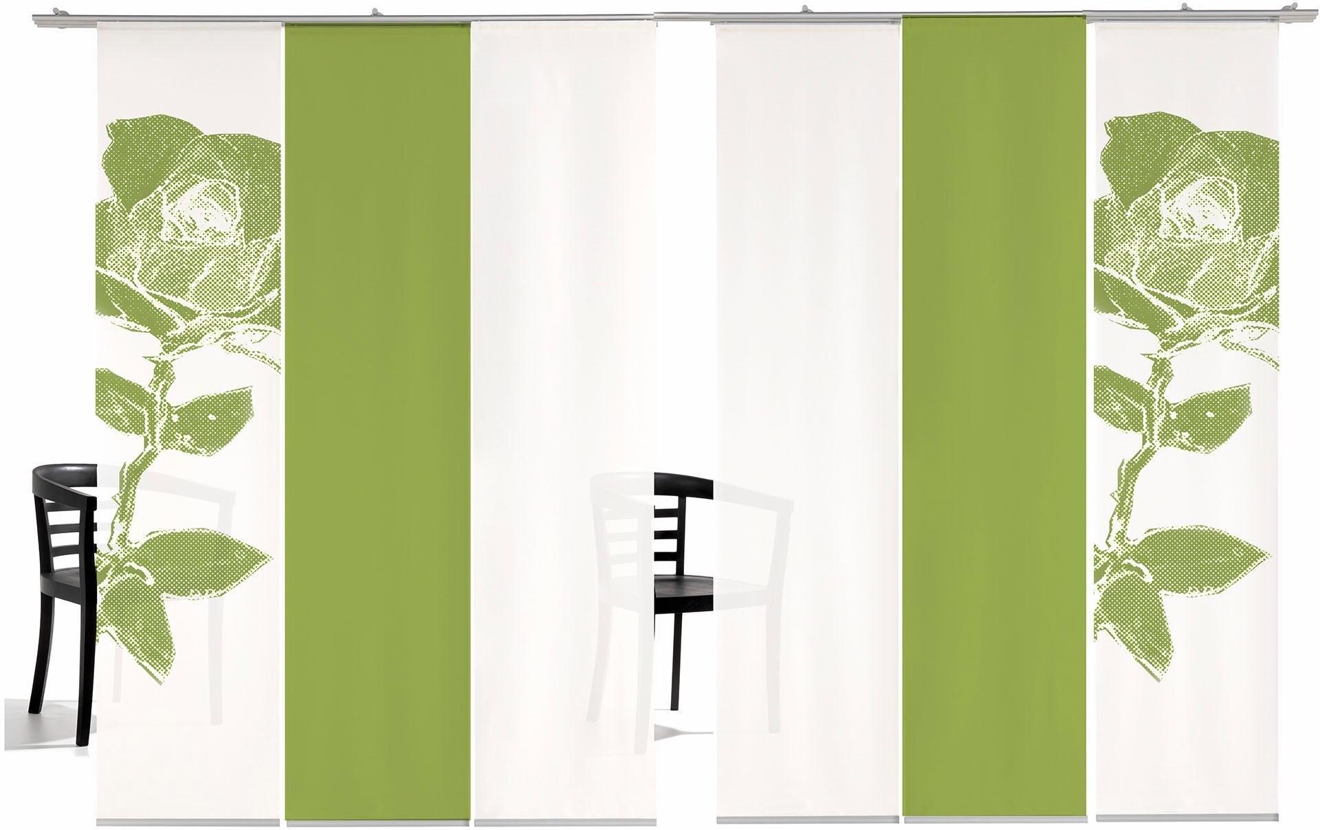 emotion textiles Paneelgordijn Pixel Rose gekleurd HxB: 260x60, inclusief bevestigingsmateriaal (6 stuks) - verschillende betaalmethodes
