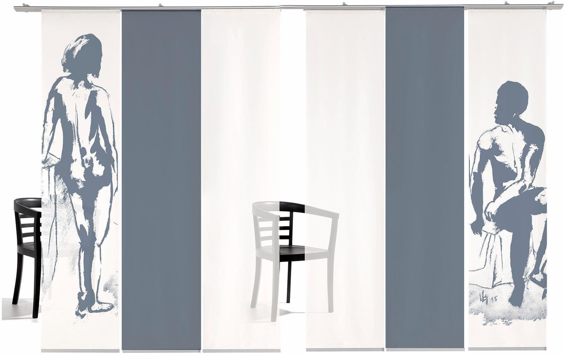 Paneel Gordijn 6 : Paneelgordijn emotion textiles man vrouw gekleurd« met