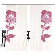 paneelgordijn, »pixel rose ha«, emotion textiles, klittenband set van 4 rood
