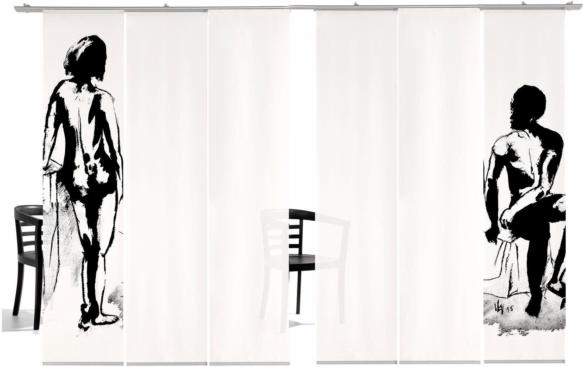 Paneel Gordijn 6 : Paneelgordijn mann frau ha« emotion textiles klittenband set