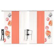 emotion textiles paneelgordijn rondo gekleurd hxb: 260x60, inclusief bevestigingsmateriaal (6 stuks) oranje
