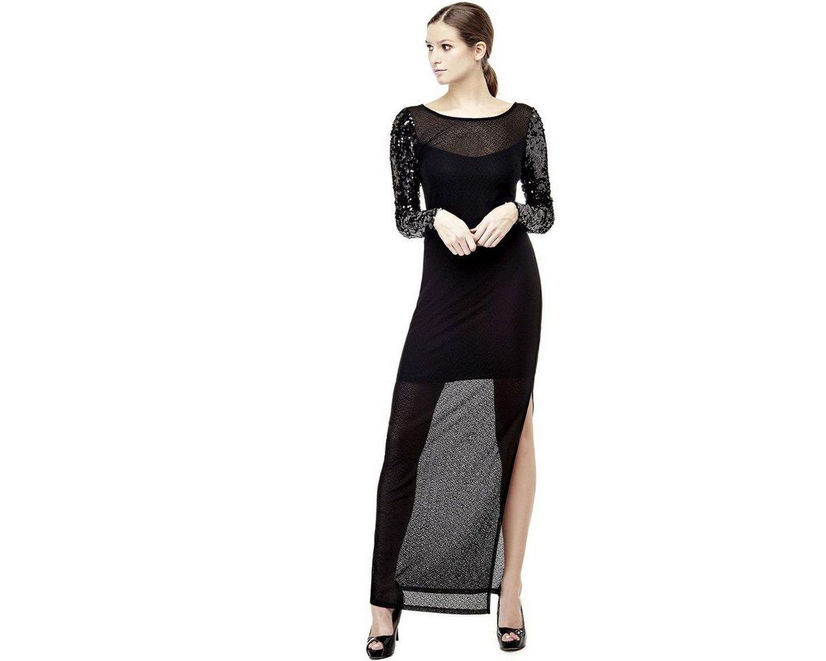 Guess jurk mouwen met pailletten zwart