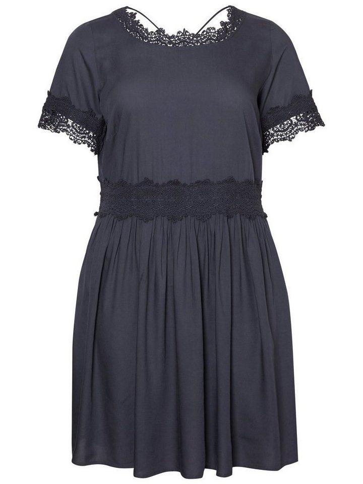 Junarose Gedetailleerde jurk blauw