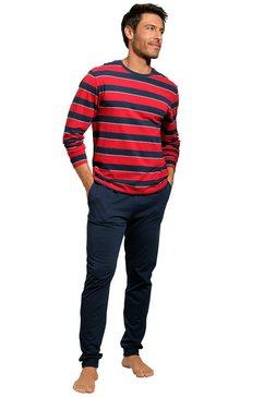 h.i.s pyjama met gestreept shirt rood