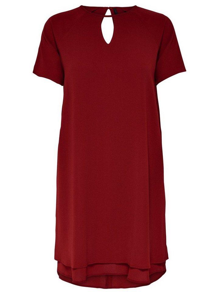 ONLY Loose fit jurk met korte mouwen rood