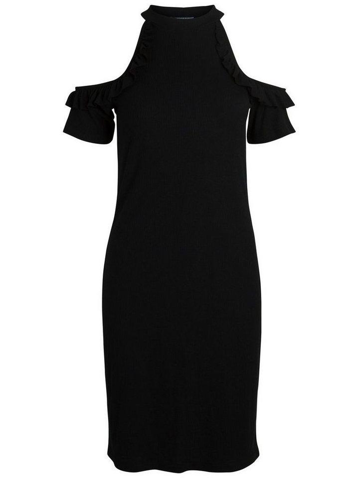 NU 21% KORTING: Pieces Ruche jurk zwart
