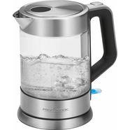 profi cook glazen waterkoker pc-wks 1107 g zilver