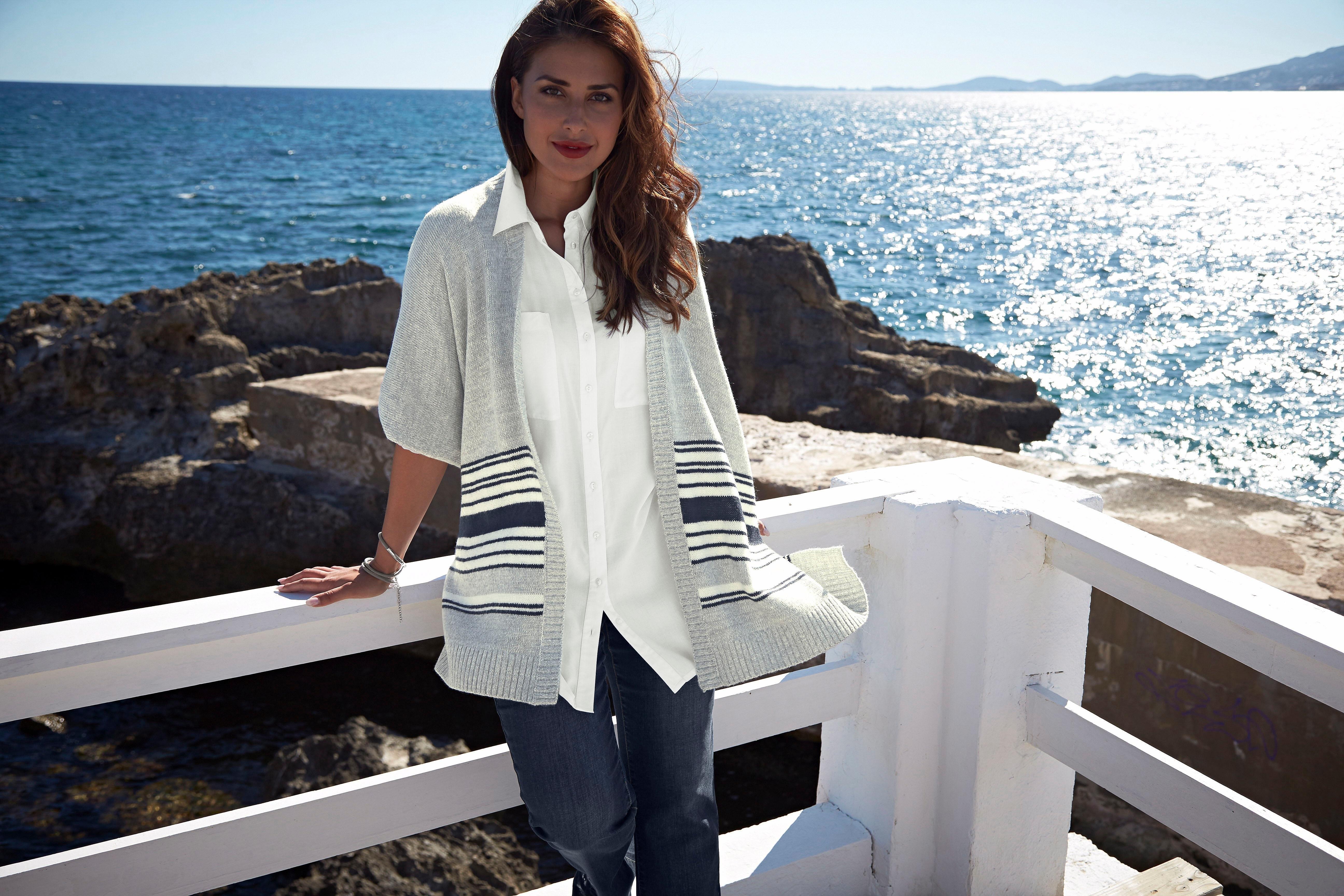 Boysen's lange blouse met diepe zijsplitten in de webshop van OTTO kopen