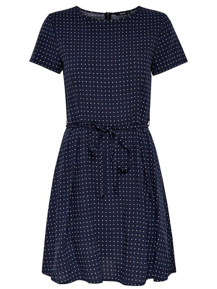 ONLY Bedrukte jurk met korte mouwen blauw