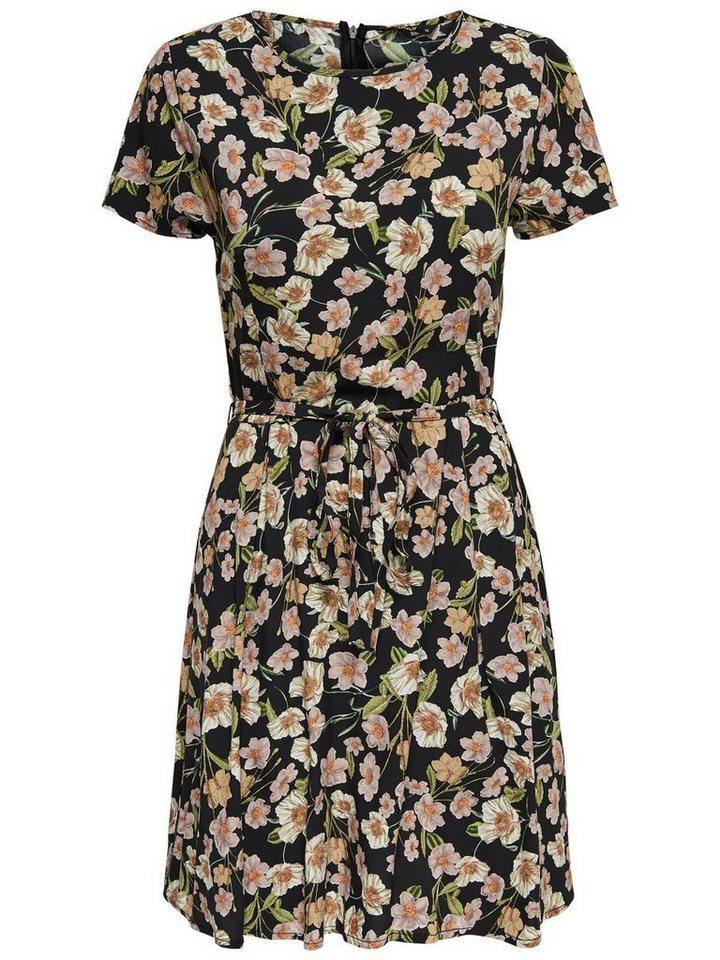 ONLY Bedrukte jurk met korte mouwen zwart