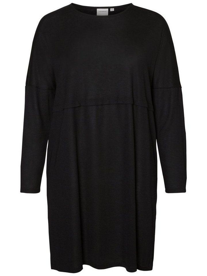 Junarose Vrouwelijke jurk met lange mouwen zwart