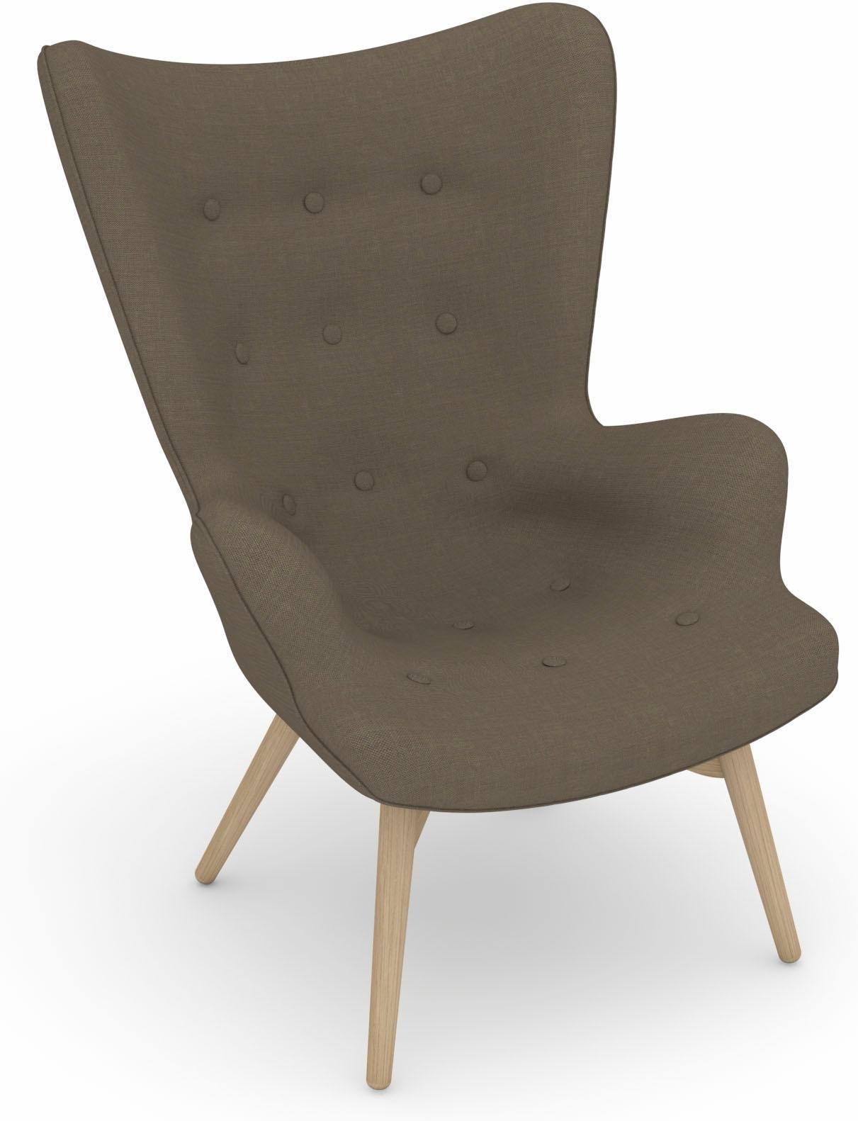 Max Winzer® build-a-chair stoel met hoge rug, fauteuil »Arne« in retro-look, om zelf vorm te geven bestellen: 14 dagen bedenktijd