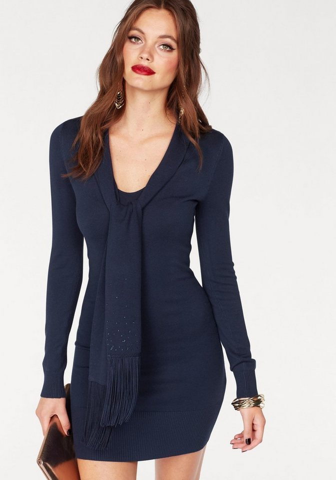 Melrose tricotjurk blauw