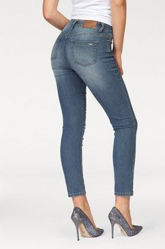 arizona high-waist-jeans 7-8-slimfit blauw