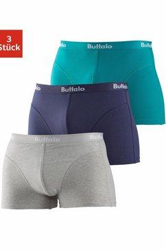 buffalo boxershort met overlocknaden voor (set, 3 stuks, set van 3) multicolor
