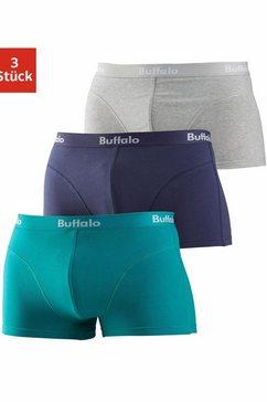 buffalo hipster met overlocknaden voor (set, 3 stuks, set van 3) multicolor