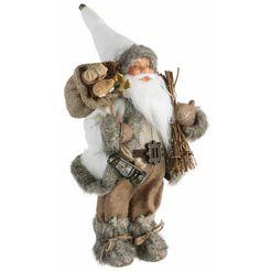 kerstman, staand, hoogte 30 cm grijs