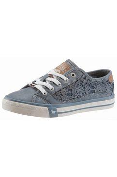 mustang shoes sneakers met zomerse bloemapplicatie blauw