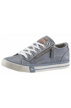 mustang shoes sneakers met een ritssluiting aan de buitenkant blauw