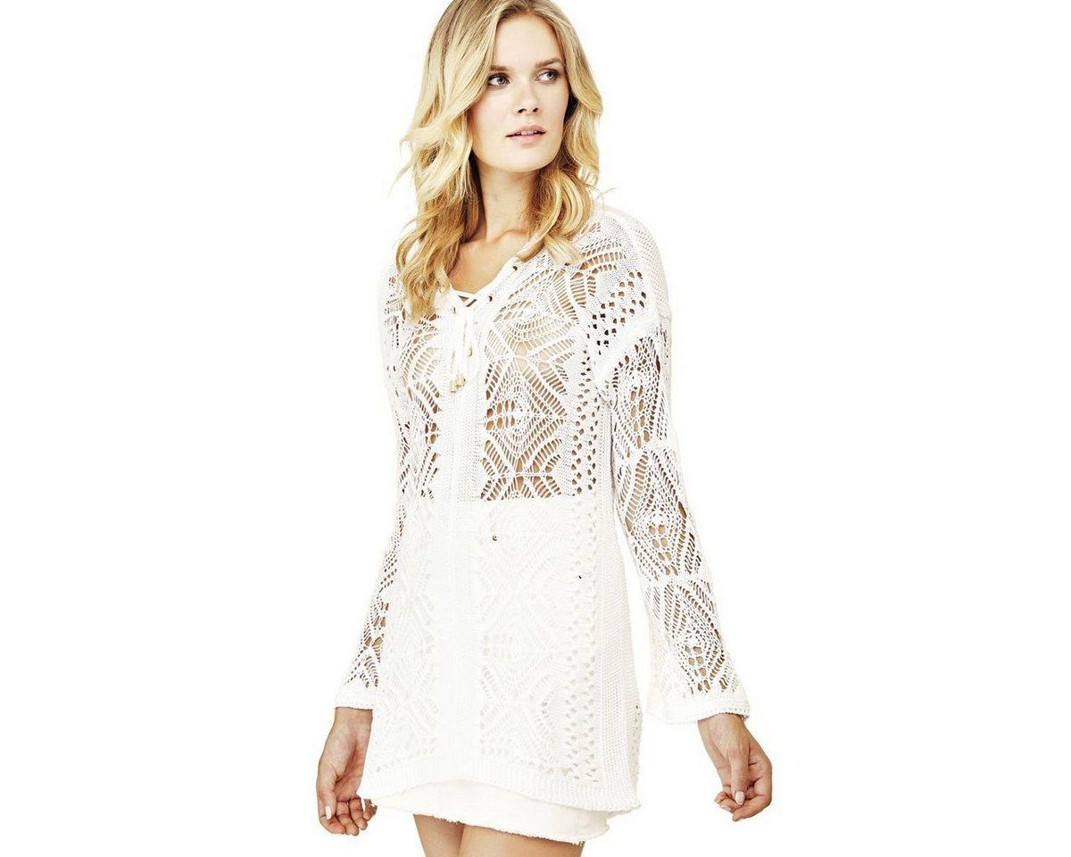 Guess jurk borduursel wit
