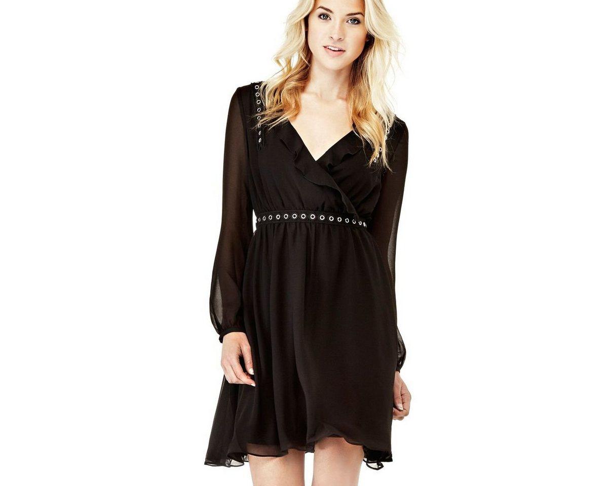 Guess jurk metalen nestels zwart