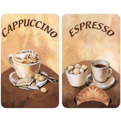 wenko afdekblad voor de kookplaat, set van 2, »koffie« bruin