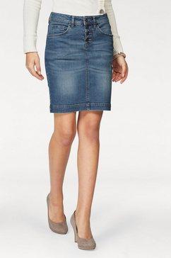 arizona jeansrok »met zichtbare knoopsluiting« blauw