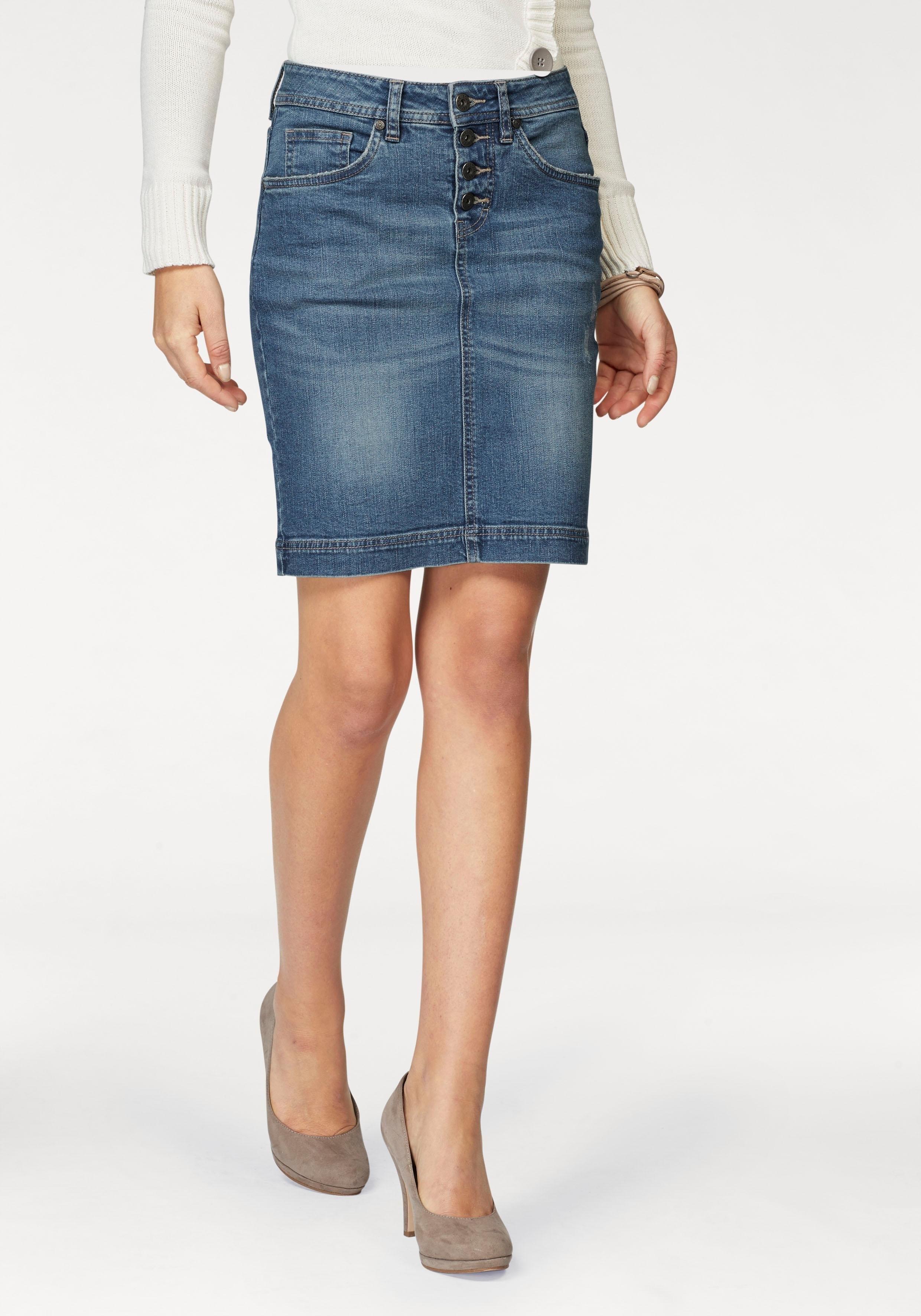 ARIZONA jeansrok »met zichtbare knoopsluiting« voordelig en veilig online kopen