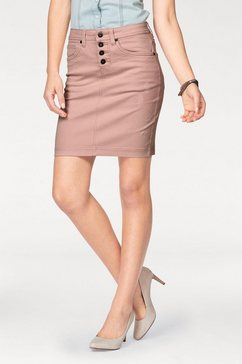arizona jeansrok »met zichtbare knoopsluiting« roze