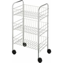 wenko trolley met 3 etages, »florence« zilver