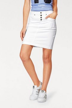 arizona jeansrok »met zichtbare knoopsluiting« wit