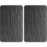 wenko kookplaatafdekblad, set van 2, 40 x 52 cm, »leisteen« zwart