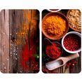 wenko kookplaatdeksel specerijen antislip speciale pootjes, afm. per blad: 30 x 52 cm (set, 2-delig) multicolor