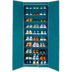 wenko schoenenkast met 9 planken, »breeze« groen