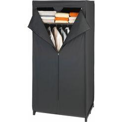 wenko garderobekast met plank, »deep black« zwart