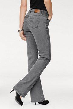 arizona bootcutjeans »comfort-fit« grijs