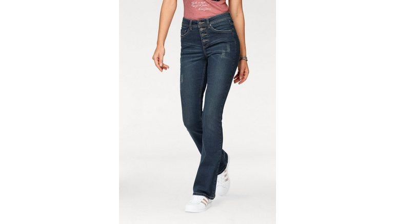 Arizona bootcut jeans Met zichtbare knoopsluiting High Waist
