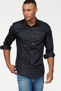 tommy jeans overhemd met lange mouwen sabim shirt zwart