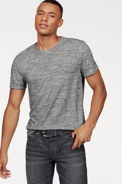 bruno banani t-shirt met borstzak grijs