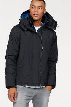 superdry windbreaker »pop zip hood arctic wndcheater« zwart
