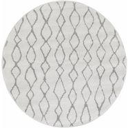 vloerkleed, rond, andiamo, 'bolonia 92', hoogte 6 mm, geweven grijs