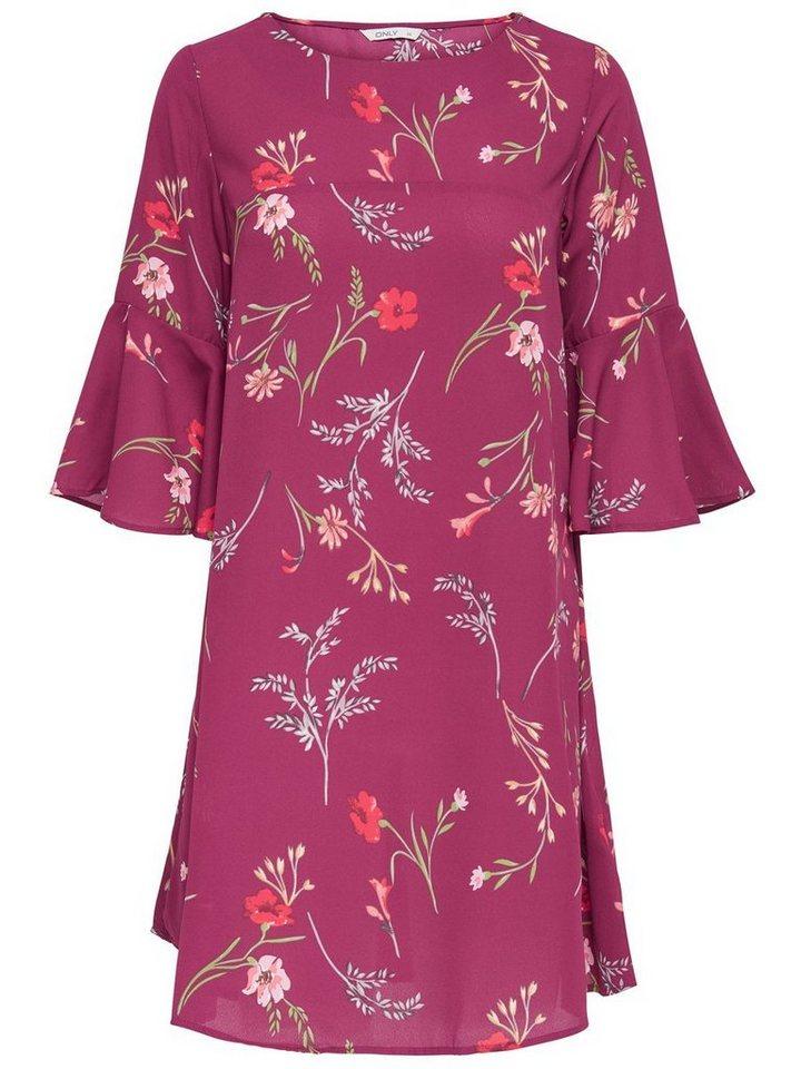 NU 21% KORTING: ONLY 3/4-mouw Korte jurk rood