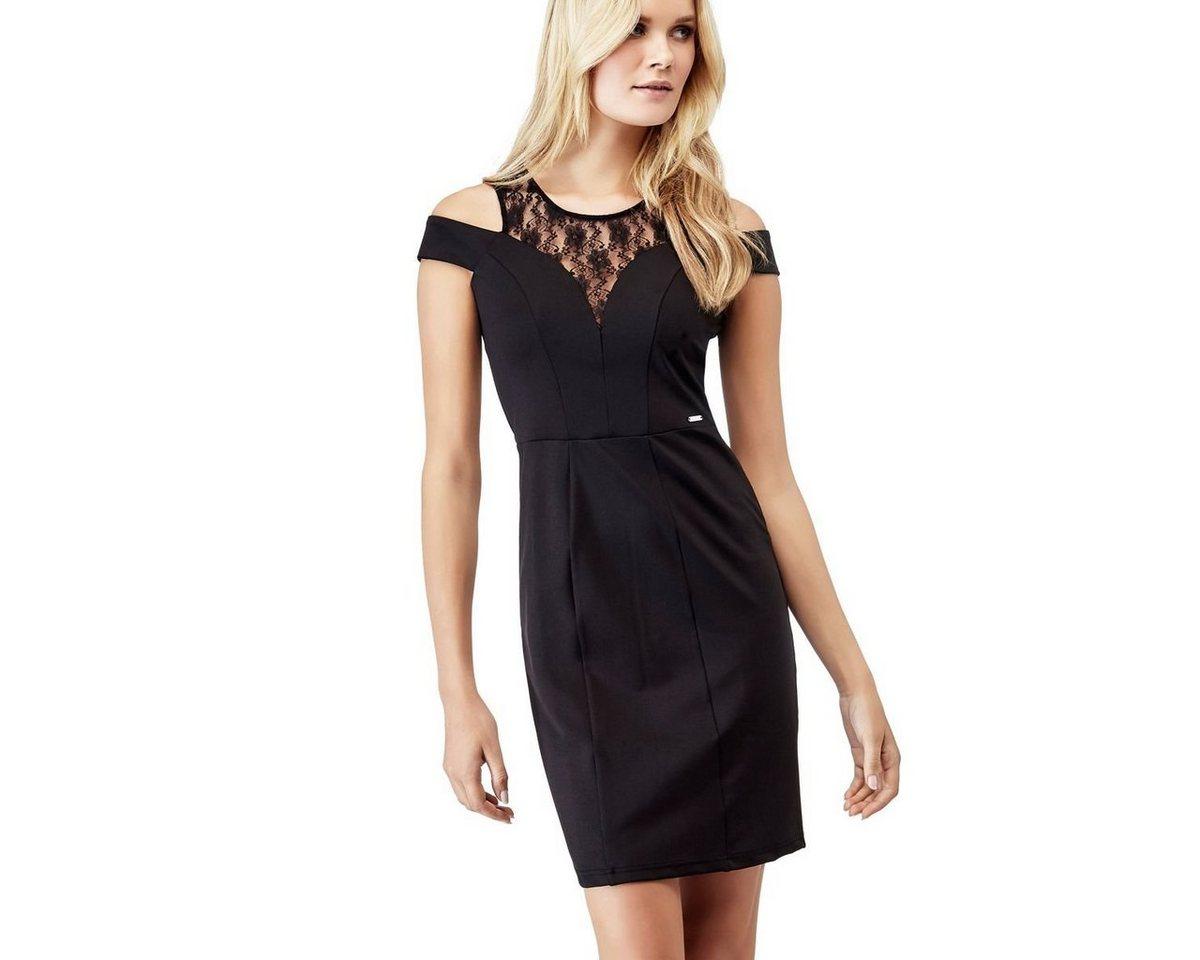 Guess jurk inzet van kant zwart