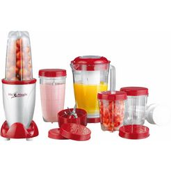 gourmetmaxx blender mr. magic, 18-dlg., 400 w rood