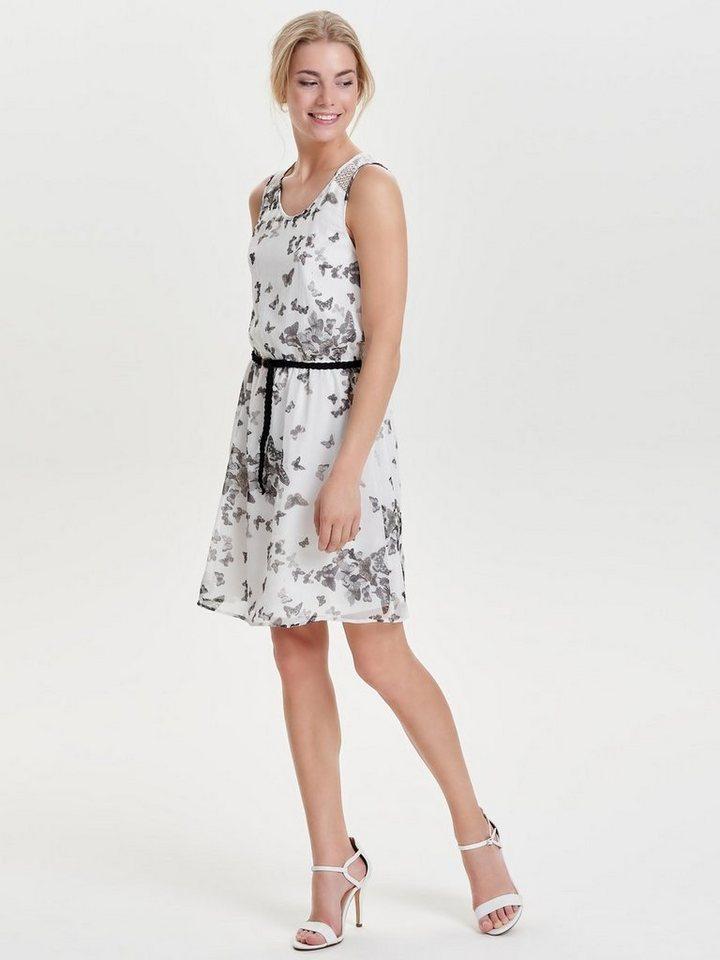 ONLY Bedrukte Mouwloze jurk wit