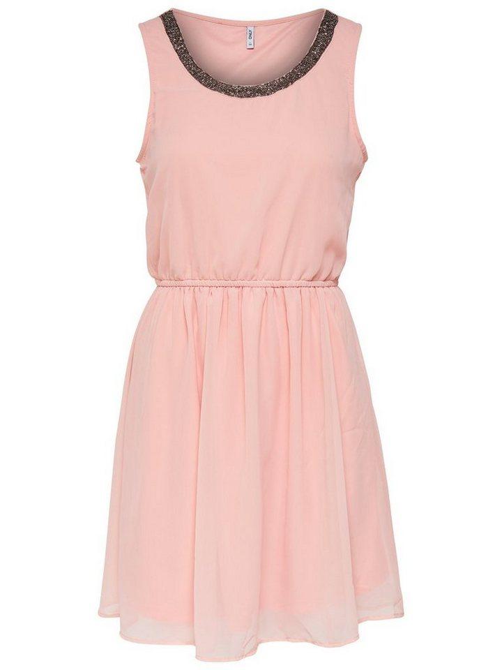 ONLY Gedetailleerde Mouwloze jurk roze