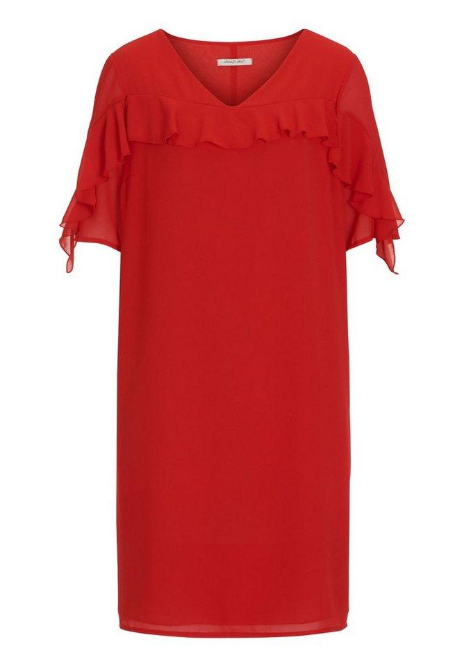 Betty Barclay jurk met volants rood