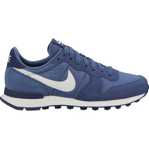 Nike Internationalist damessneaker blauw en wit